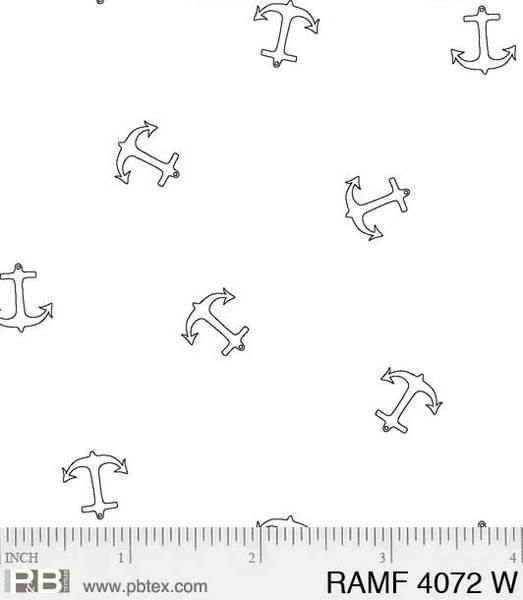 PB- Ramblings Fun Anchors White On White