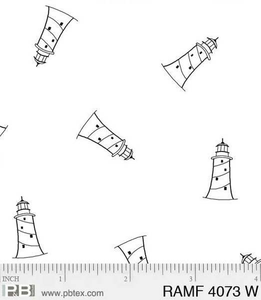 PB- Ramblings Fun Lighthouses White On White