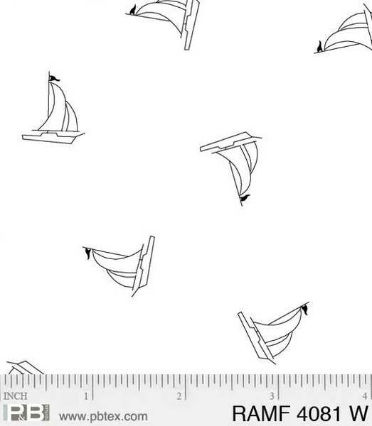 PB- Ramblings Fun Sailboats White On White