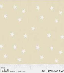 PB- Rambling Winter Stars RWIN 612W White-On-White
