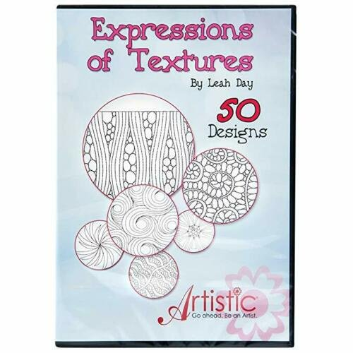 JAN- Expressions Of Texture 50 Embroidery Designs by Leah Day