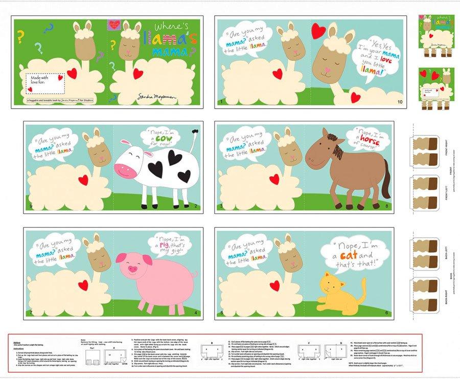 Panel- Huggable & Loveable VI Llama Book