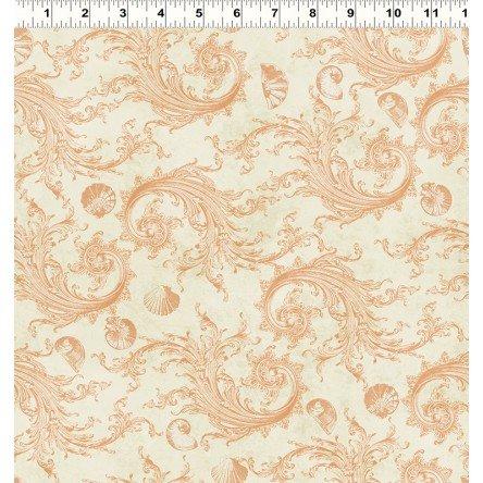 CLOTH- Sea Cottage Scroll Cream
