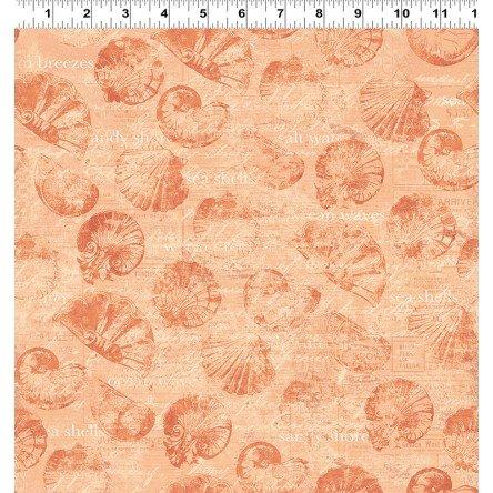 CLOTH- Sea Cottage Small ShellsLight Orange
