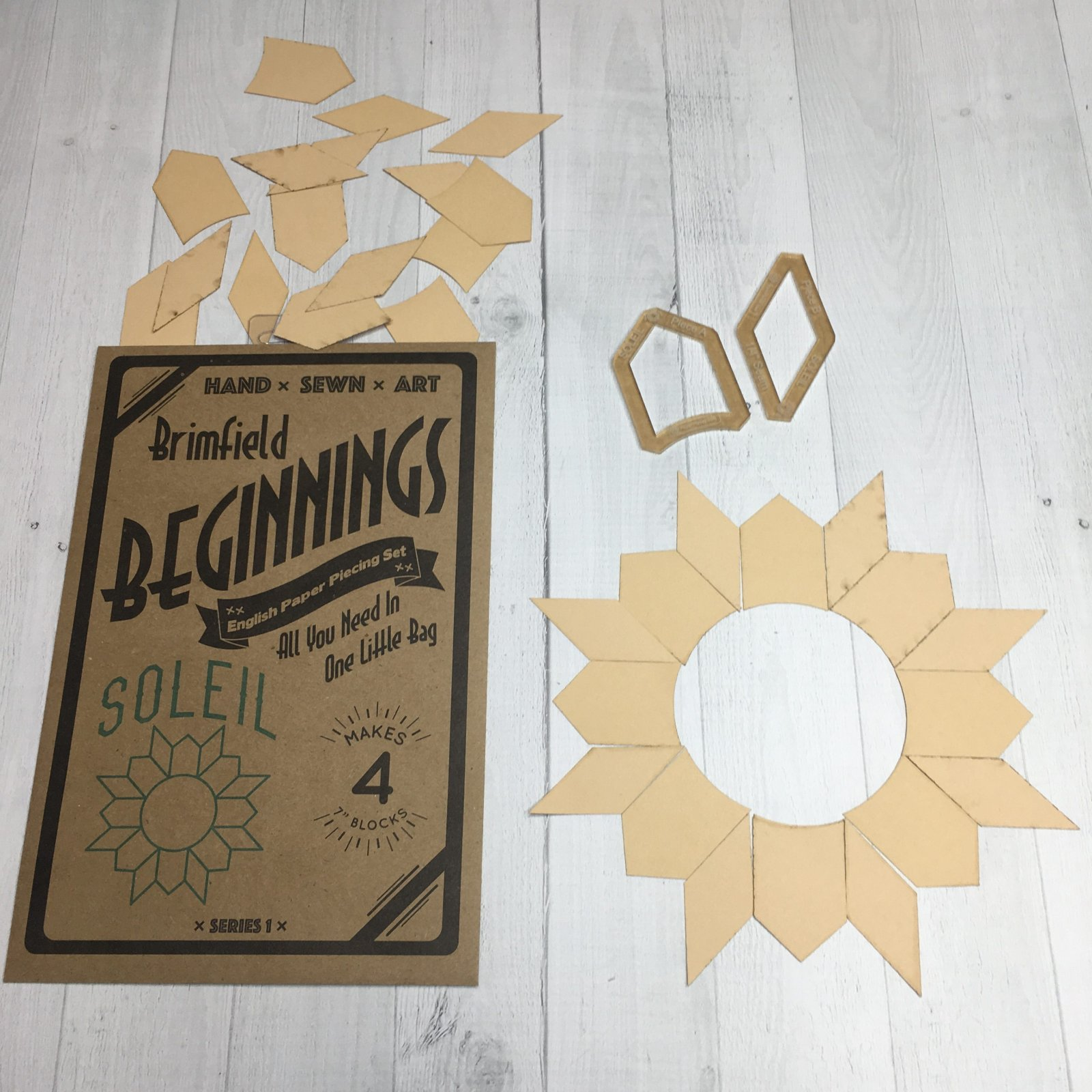 N- Soleil Brimfield Beginnings Papers/Acrylics/Pattern