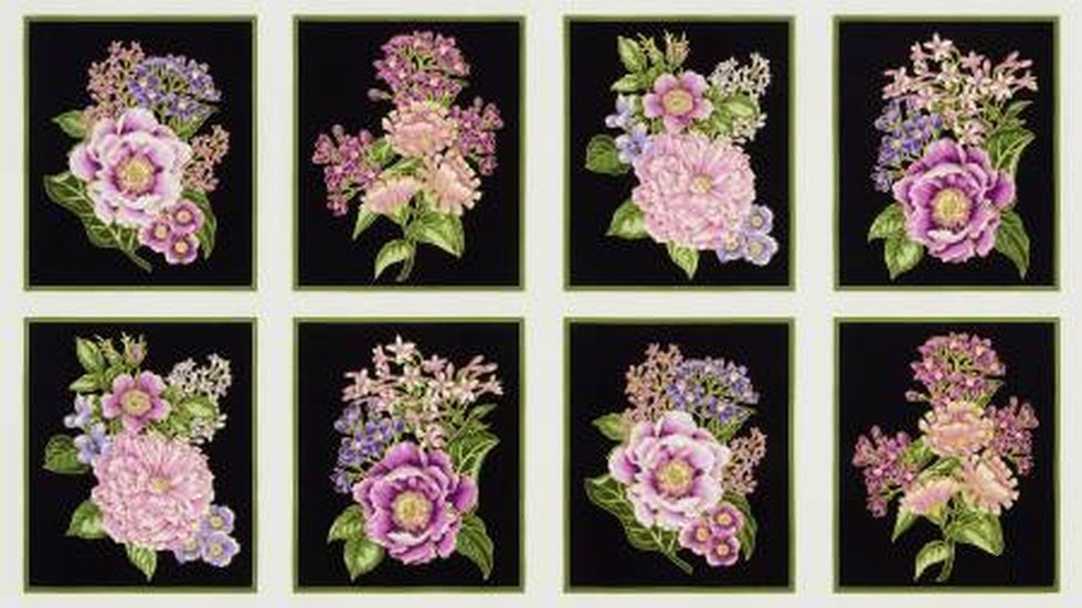 PANEL- Avery Hill Purple Floral