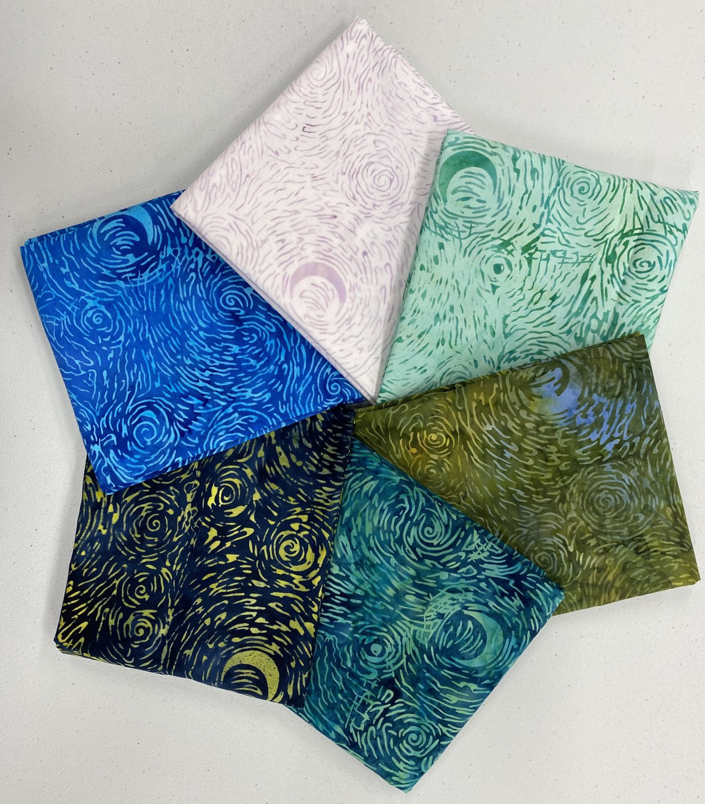 Starry Night Batik 6 FQ Bundle