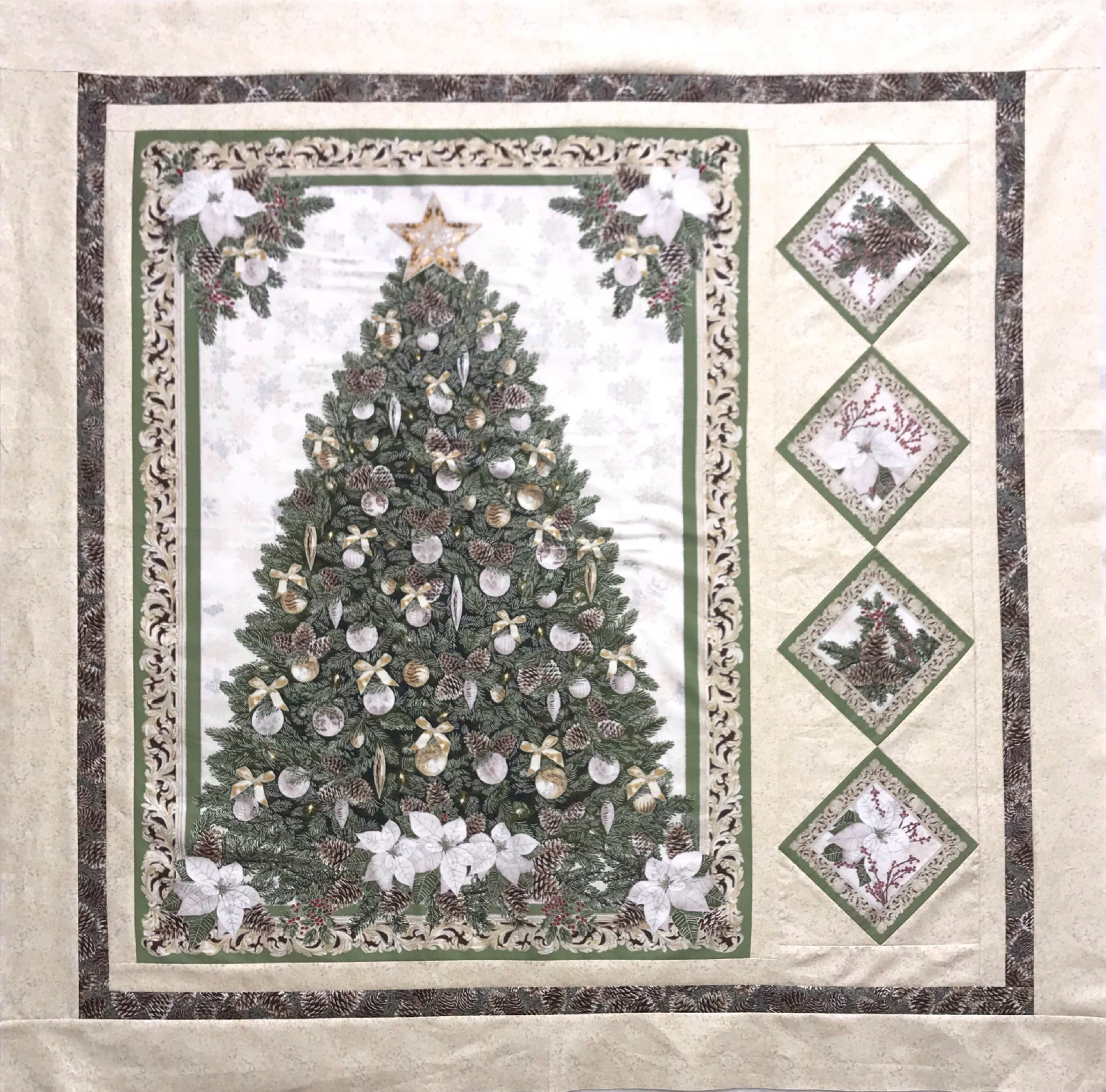 MODEL- A Very Merry Christmas Panel Quilt
