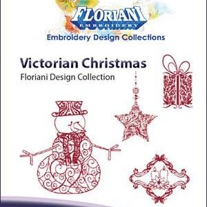 RNK- Victorian Christmas Embroidery Design Set