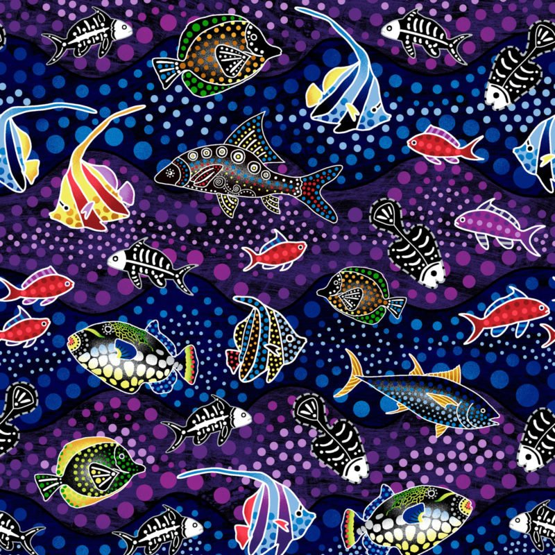 OASIS- Way Under Fish Purple/Blue
