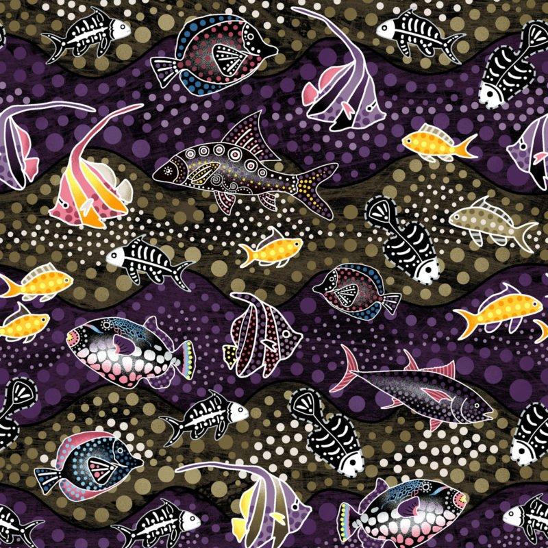 OASIS- Way Under Fish Brown/Purple