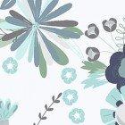 CLOTH- Secret Garden Large Toss Blue Floral on White