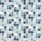 CLOTH- Secret Garden Small Geometric Aqua/Navy/White