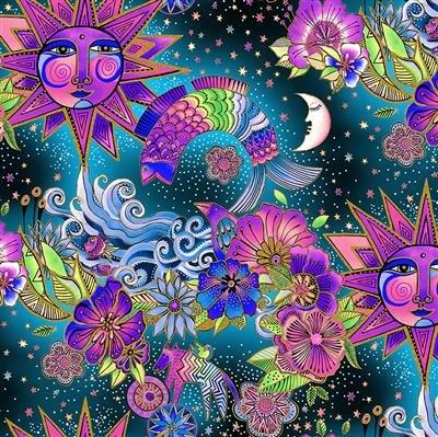 CLOTH- Celestial Magic Toile Multi Color Metallic