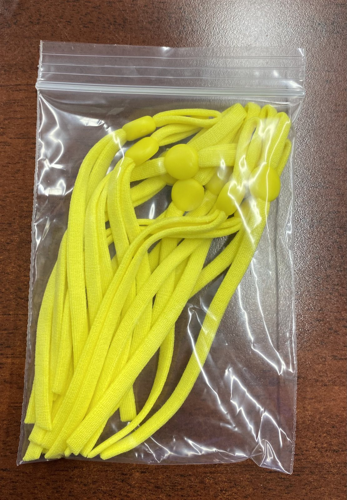 N- Adjustable Yellow Elastic Ear Cords (Pkg of 10)