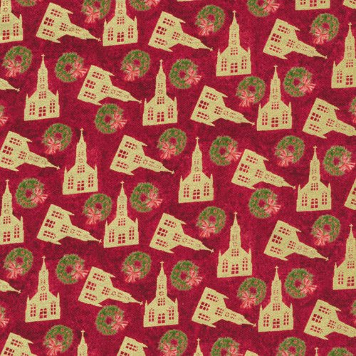 Paintbrush Studio Silent Night Churches 120-12192 Red