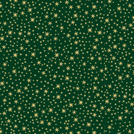 QT Holiday Metals Stars 23544-F Forest