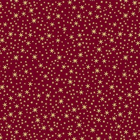 QT Holiday Metals Stars 23544-M Wine
