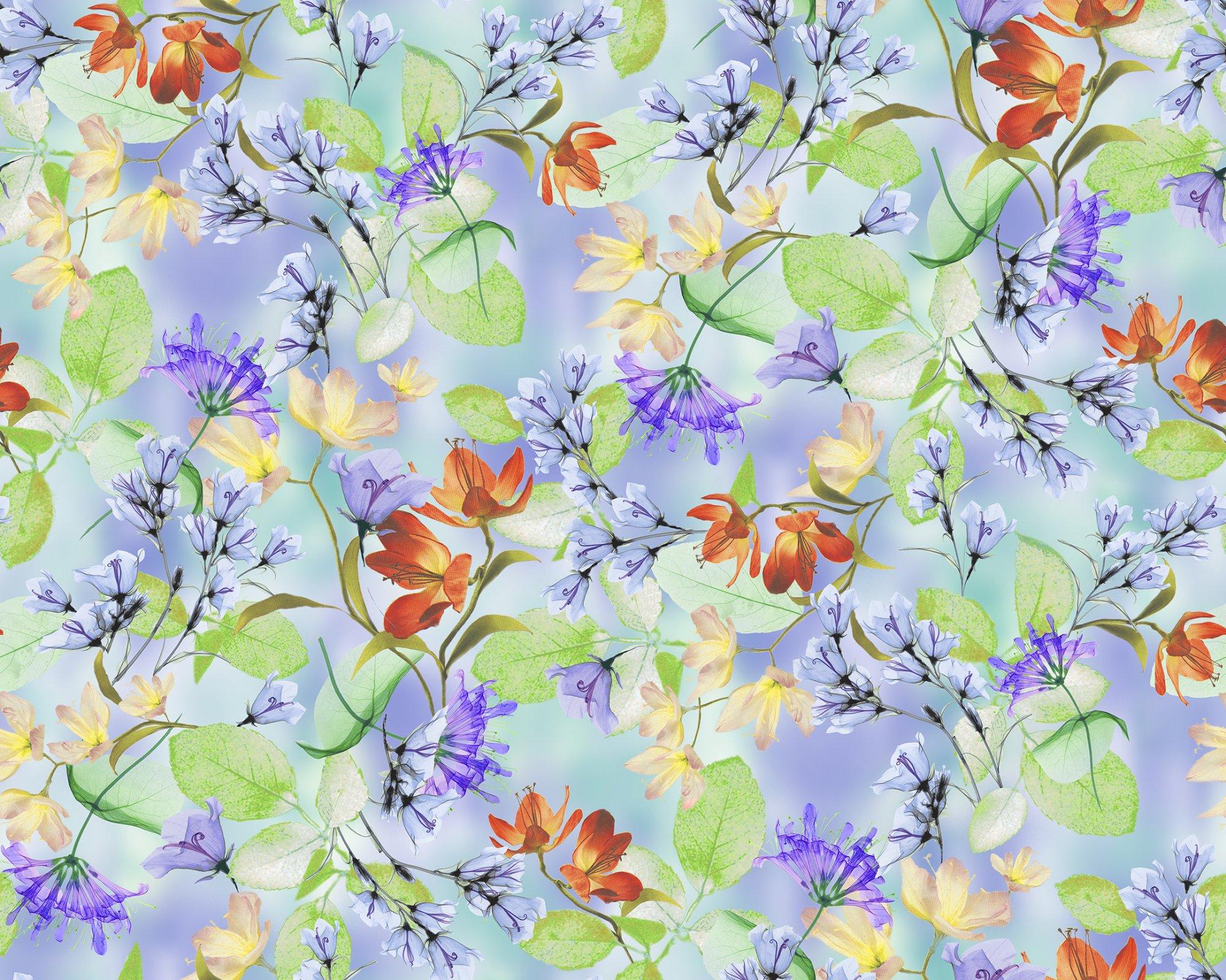 Belle Watercolor Floral 26417-W Periwinkle