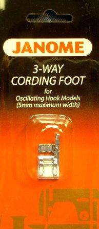 3-Way Cording Foot for Oscillating Hook (Front Load) Models 5mm