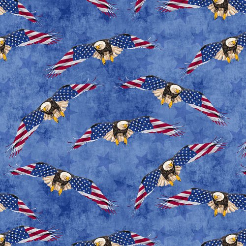 Land of the Free Eagles 9510-77 Blue