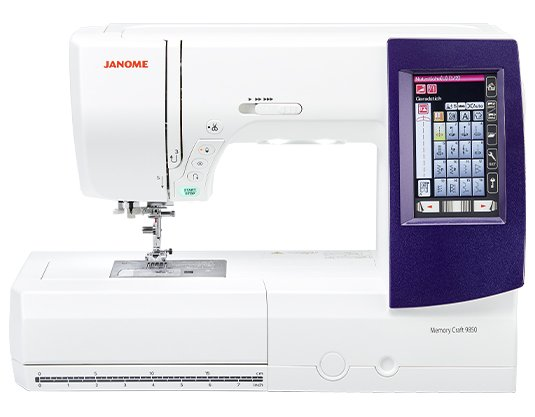 Janome Memory Craft 9850 Sewing and Embroidery