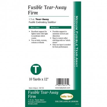 Tear-Away Firm Fusible BLT105 (12 x 10 yds)