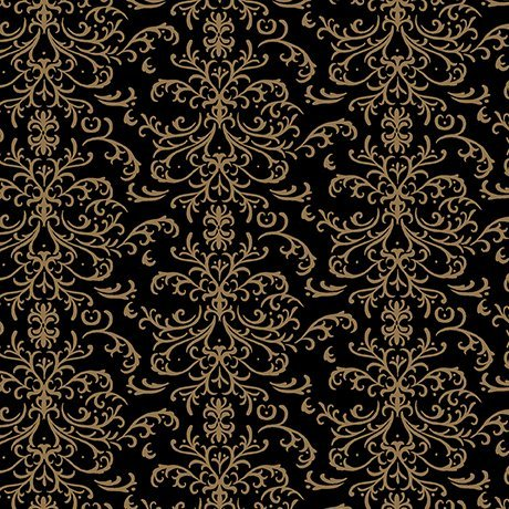 QT A Golden Holiday - Filigree 25960-J Black