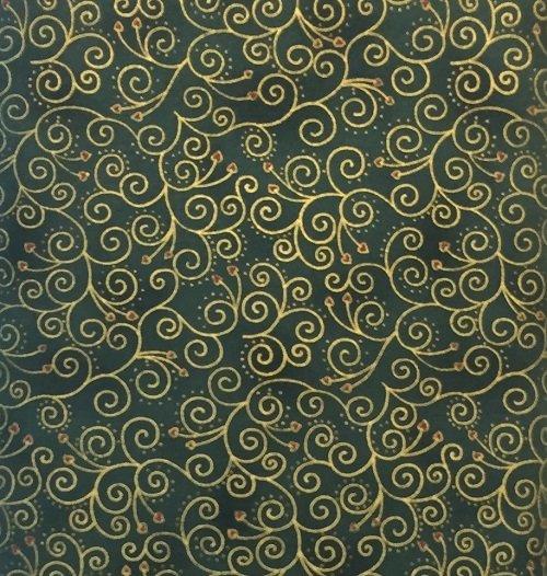 Stof Glimmer Swirls 4592-806 Green