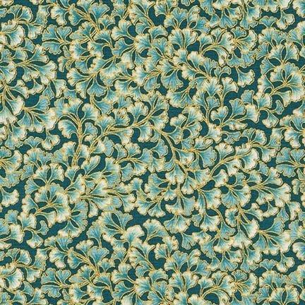 Robert Kaufman Tuscan Wildflower Metallic 15409-238 Garden