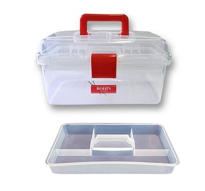 Clear Plastic Sewing Box Medium