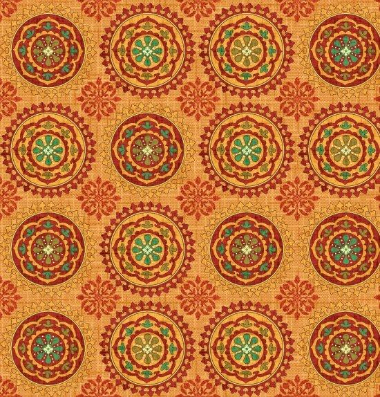 Autumn Elegance 2278-35 Orange Multi