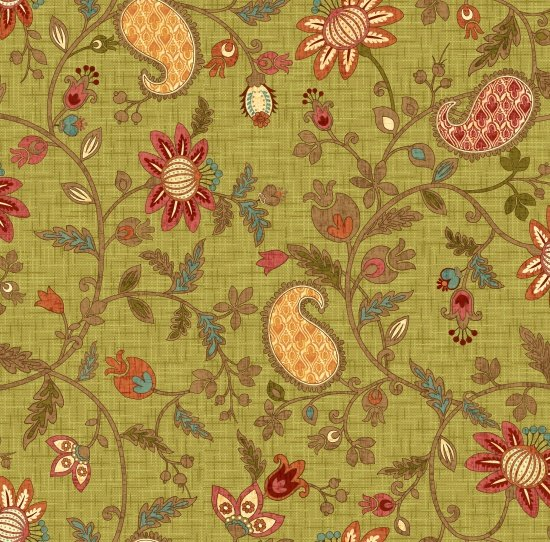 Autumn Elegance 2280-66 Green Floral