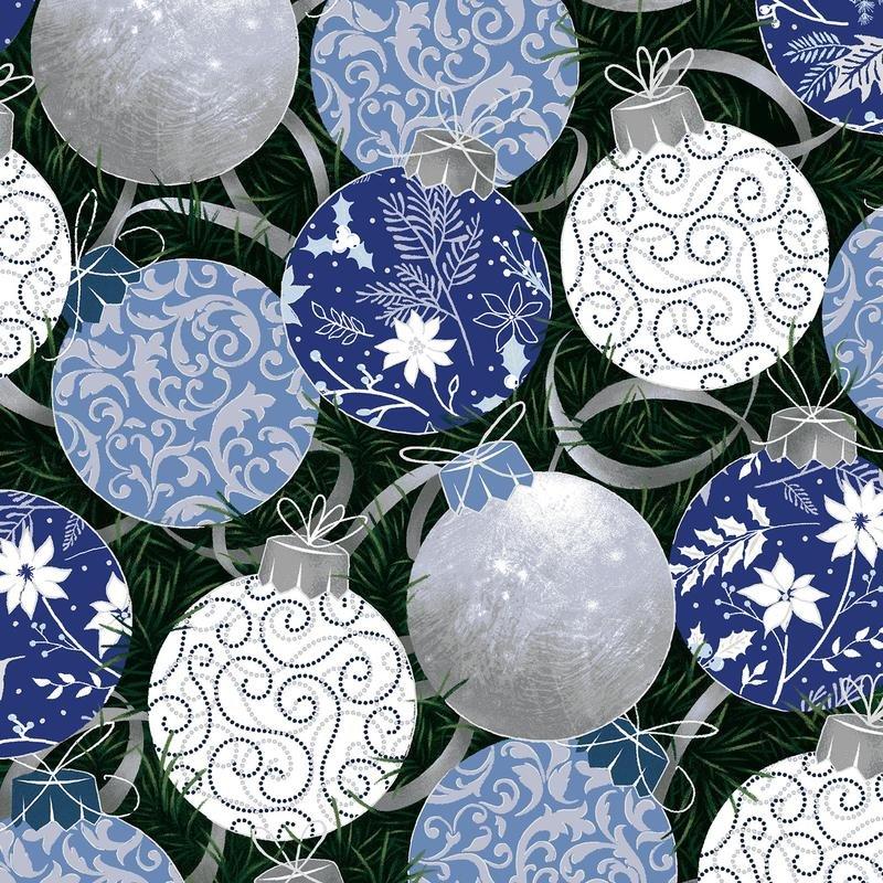 Cotton Prints PBS Blue Holiday