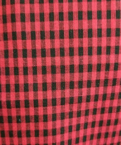 Cotton Fabric Red and Black gingham