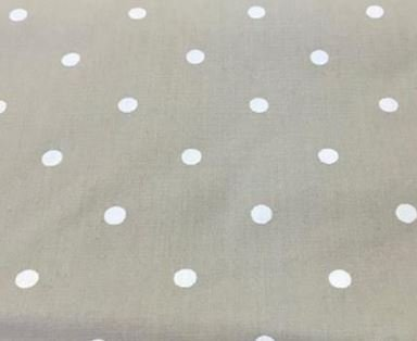Cotton Fabric White Dot on Beige