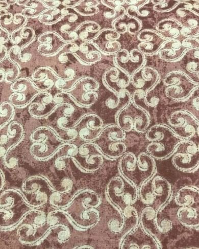 Cotton Fabric 45 Double Swirl Tan on Rose