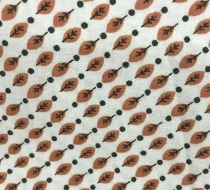 Cotton fabric Feathers on Tan