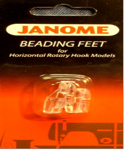 Janome Foot Beading Feet Set (Wide and Narrow groove)