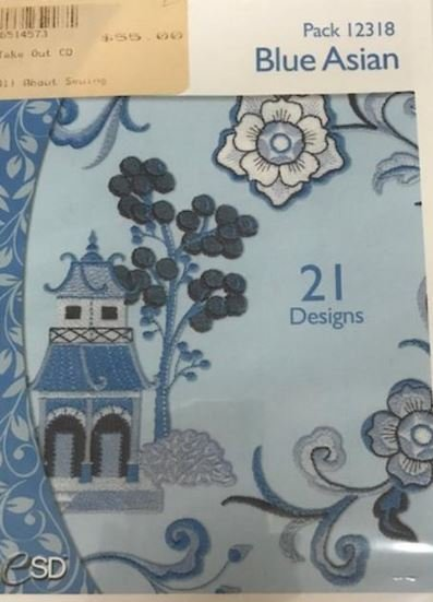 Design Pack OESD Blue Asian
