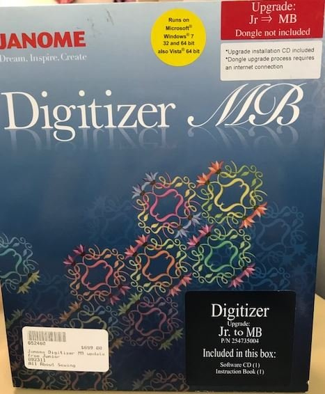 Software Janome Digitizer MB- Update from JR