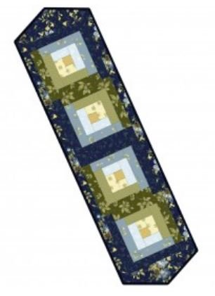 Pre Cut Fabric Pods for Log Cabin Tablerunner 13x45