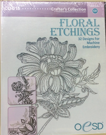 Design Pack OESD Floral Etchings CD