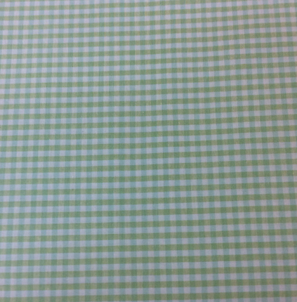 Green & White Cotton Gingham 60 wide