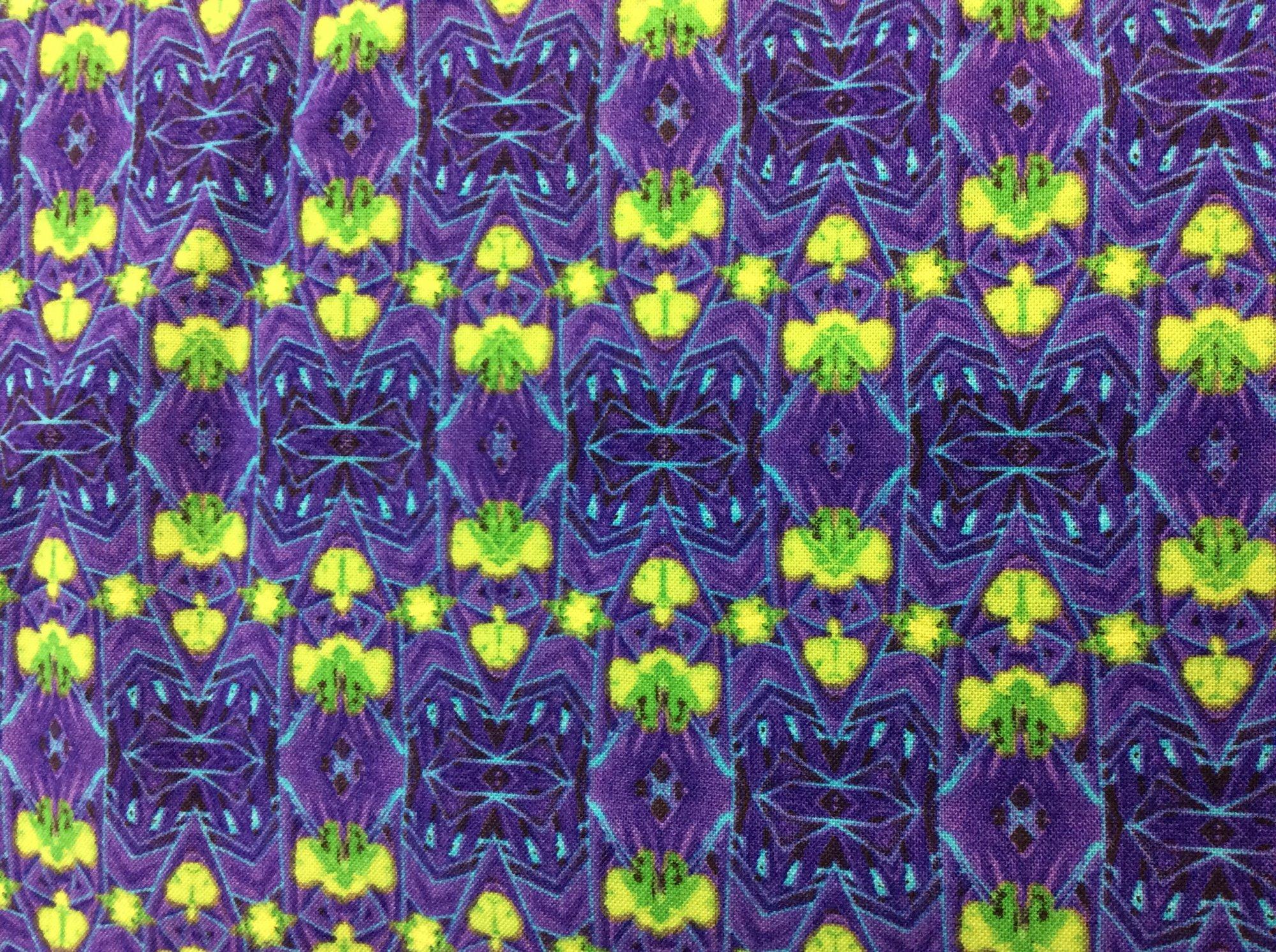 Fabric Purple Kaleidoscope