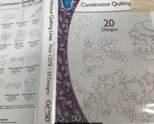 Design Pack OESD Continuous Quilting Lines