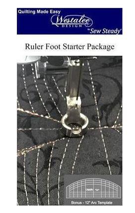 Westalee Ruler Foot w/ 1 template - Low Shank