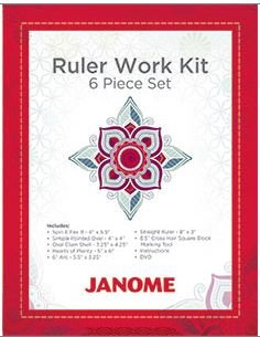 Janome 6 Piece Ruler Set for High Shank
