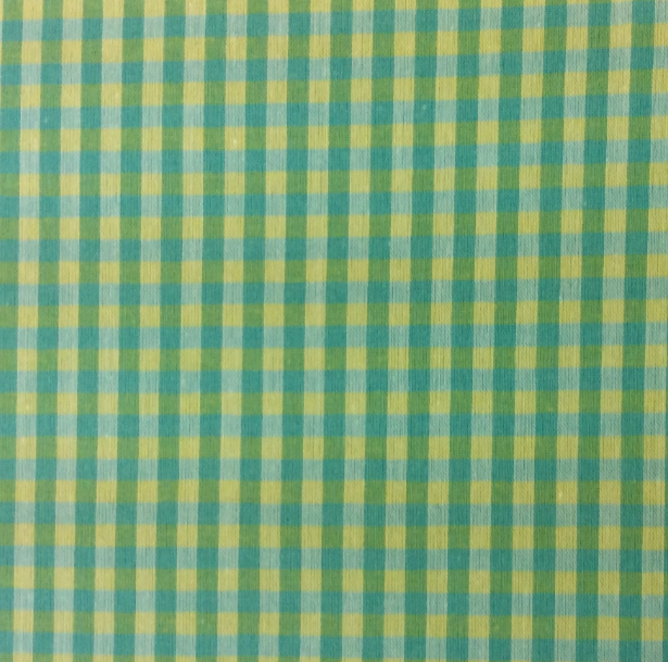 Green & Yellow Cotton Gingham 60 wide