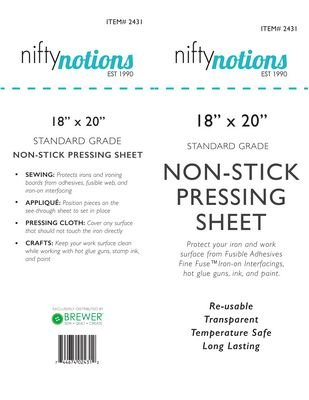 NN Teflon Pressing Sheet 18x20 Standard Grade